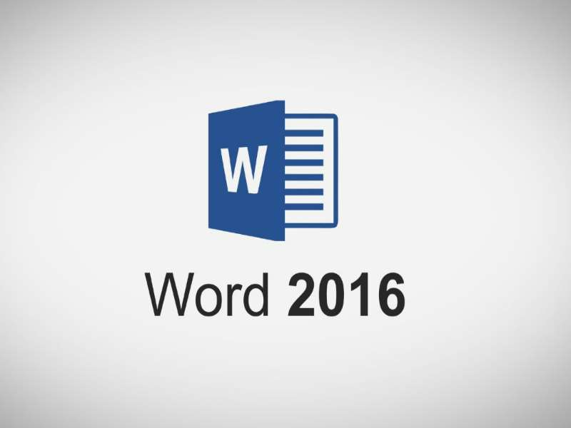 MS Word 2016: Introduction