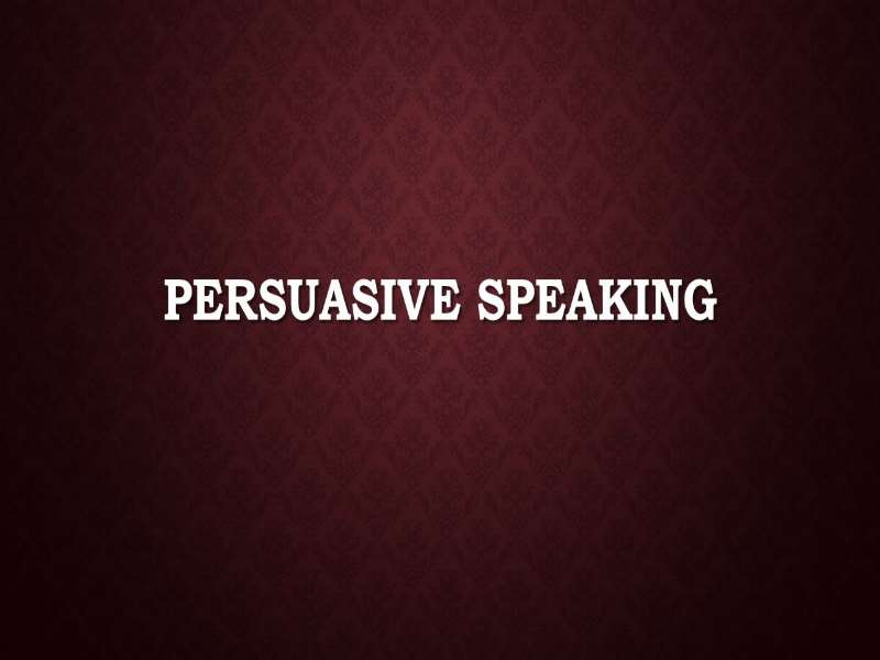 Using Persuasive Language in Presentations