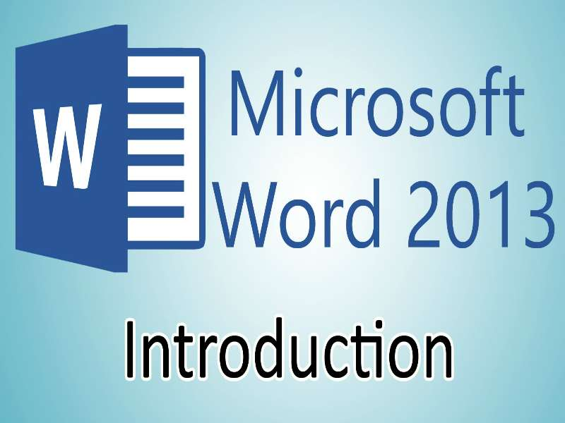 MS Word 2013: Introduction
