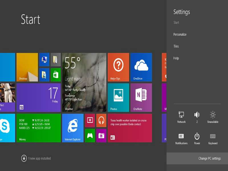 Windows 8 - Start Screen Apps 3