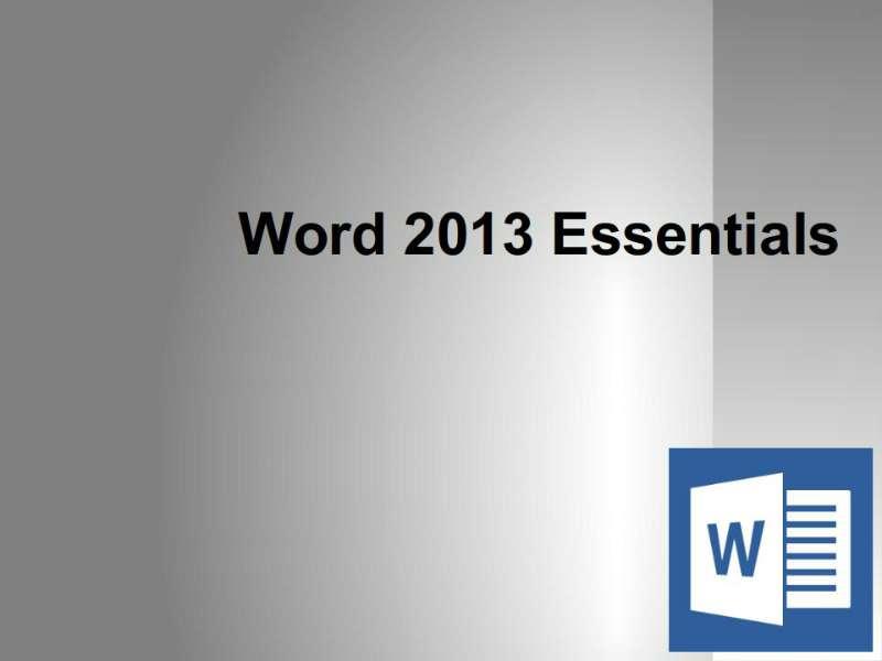 Word 2013: Advanced