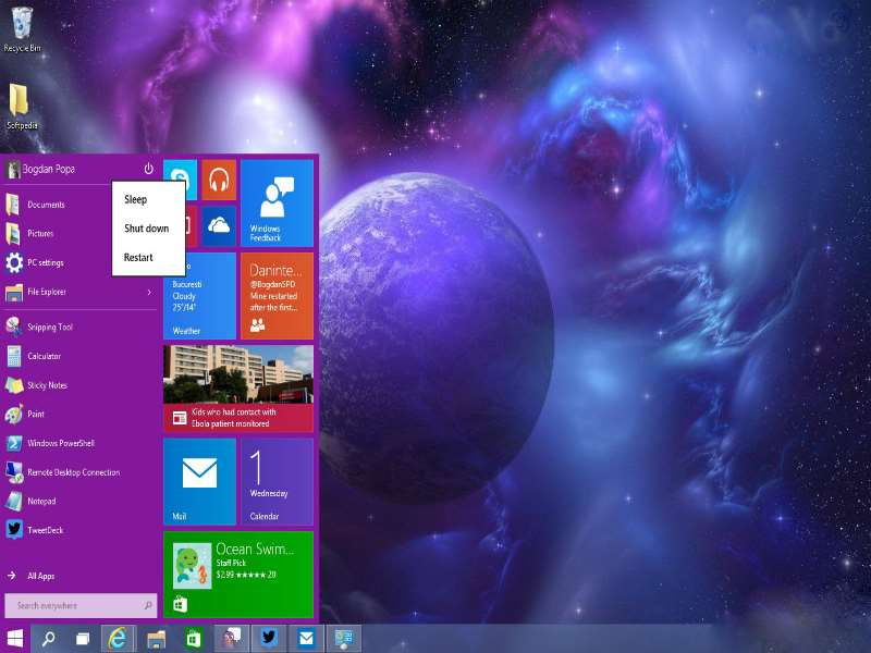 Windows 8 - Start Screen Apps 1